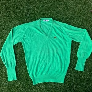 Vintage Green Lacoste Pullover Sweater